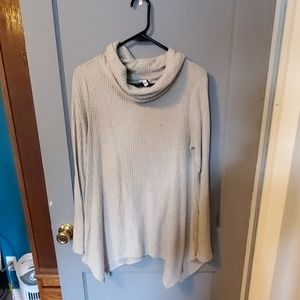 Sonoma waffle knit cowlneck top